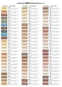Kleurenkaart KEIM Palette Exclusiv